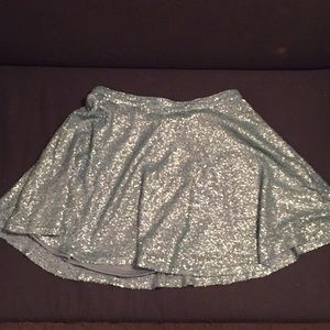 Green Sequin Forever 21 Skirt in Medium